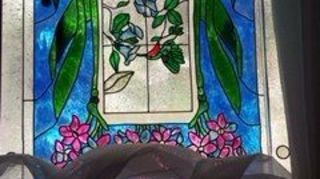 , This was done on plexi glass inserted in my window where I can take with me if I move