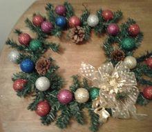 my leftover christmas wreath
