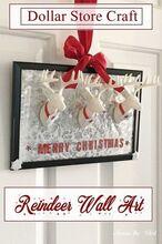 dollar store craft reindeer wall art