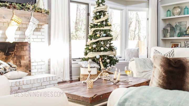 s 12 christmas home tours you re so going to fall for, My Rustic Glam Christmas Home Tour