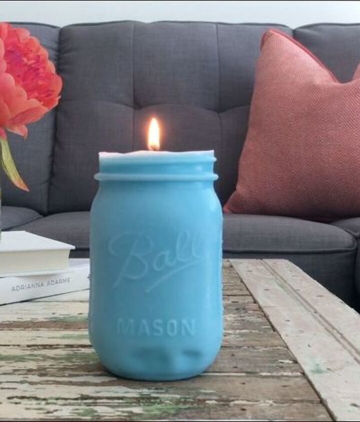 s the 25 most viewed mason jar projects on hometalk in 2017, DIY Mason Jar Candles