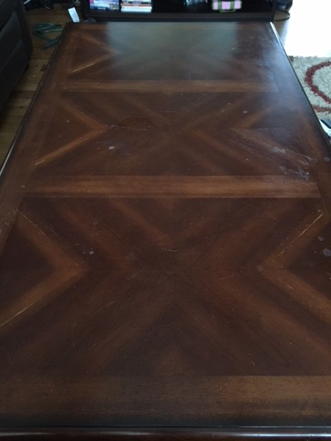 q how would you refinish a table that is veneer