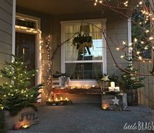 natural scandi style christmas front porch