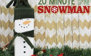 easy 20 minute wood snowman
