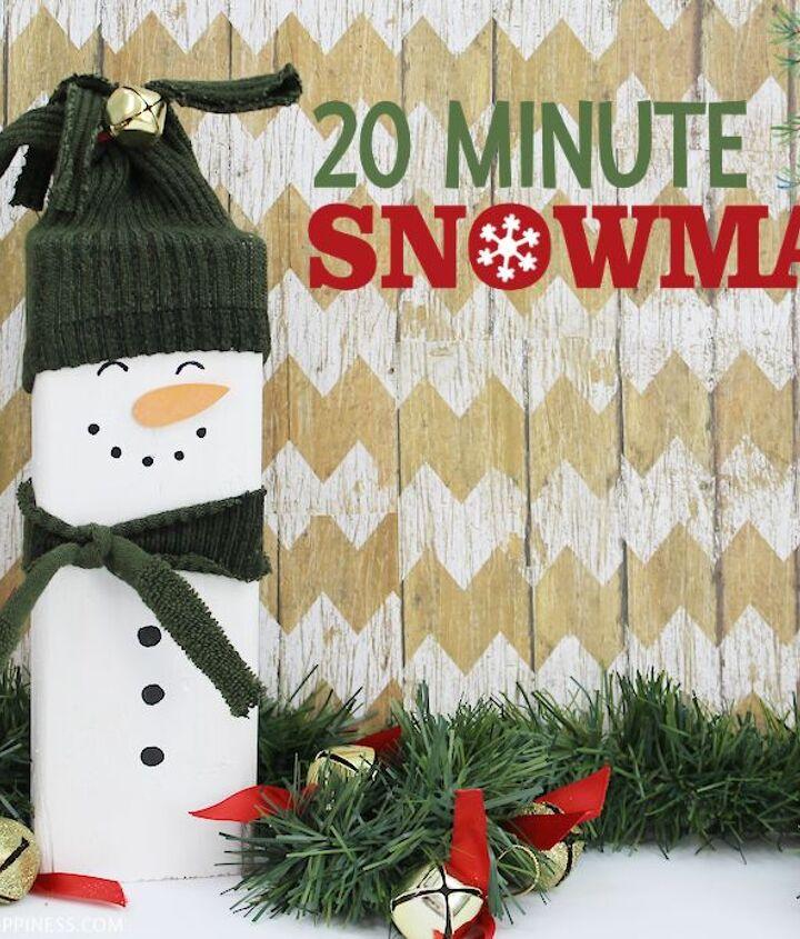 easy 20 minute wood snowman