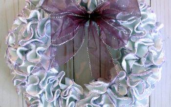 ruffled foam sheets and glitter christmas wreath diy