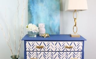 furniture flip stencil a geometric twist on a dresser