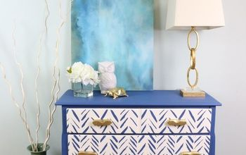Furniture Flip: Stencil A Geometric Twist On A Dresser