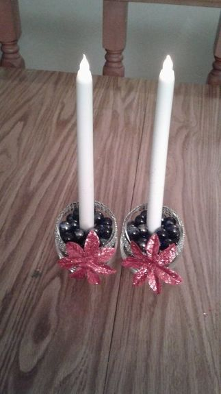 The Pair Of Candles With Holders