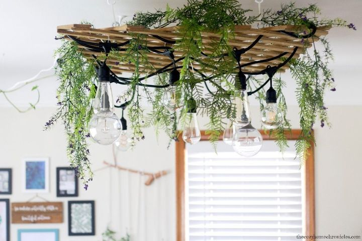 diy garden lattice light fixture