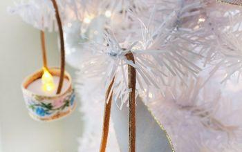 vintage ribbon tea light ornaments