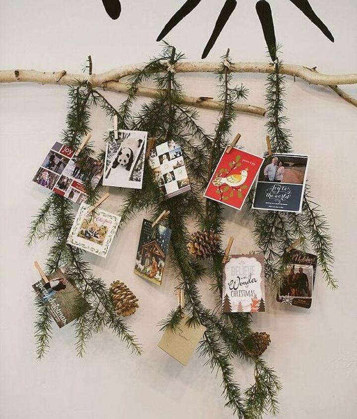 easy holiday card display