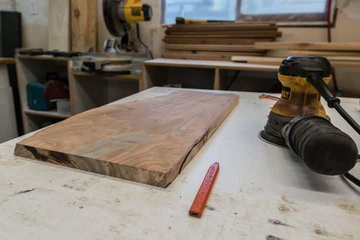 wine stained live edge serving board