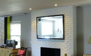 the saga of the truly ugly fireplace, Fireplace from Dark to White