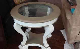 everything old is new again giving an end table a new look