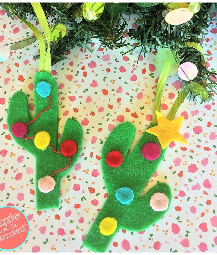 don t be a prick diy felt cactus christmas tree ornaments
