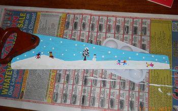 Winter Wonderland Challenge Hand Painted Saw