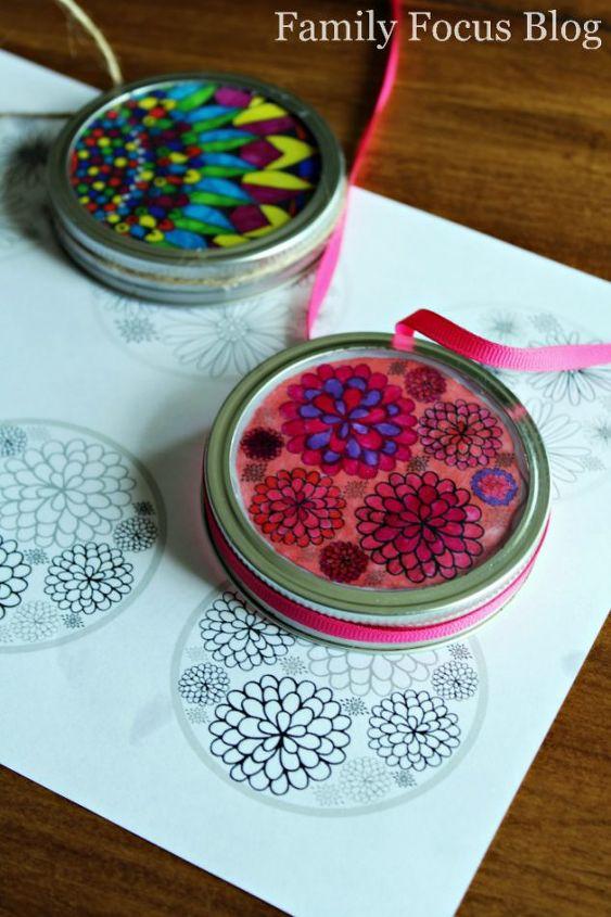 mason jar lid suncatchers cute diy gifts kids can make