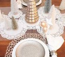 make this pretty winter tablescape with this ikea hack