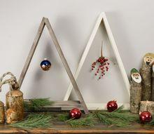 minimalist wooden christmas tree