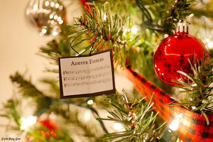 christmas carol sheet music ornaments
