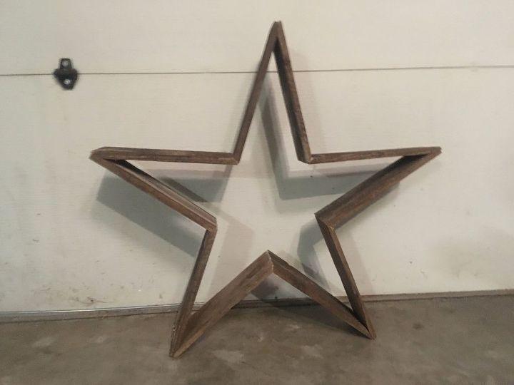 quick reclaimed wooden star for indoor outdoor decor