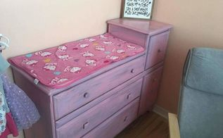 pretty in pink changing table