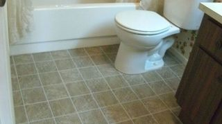 I Just Recently Laid L N Stick Tiles From Home Depot Directly Over Our Vinyl Sheet Tile In Bathroom Looks Great