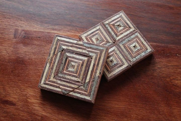coasters made out of scrap plywood