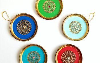 DIY Vintage Florentine Coaster Ornaments