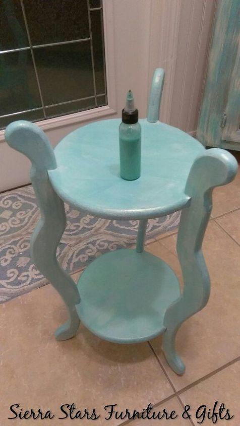 cute coastal side table