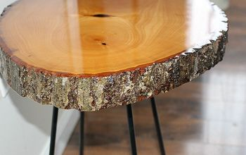 diy resin wood slice side table