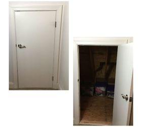 insulating an crawl space attic door  sc 1 st  Hometalk & Insulating A Crawl Space/Attic Door | Hometalk