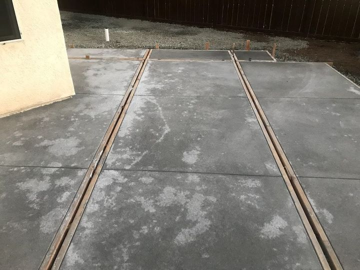 q new concrete poured 12 15 17 concerned with curing and unevenness