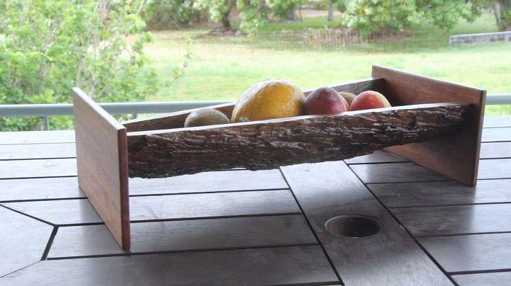 tree bark fruit bowl