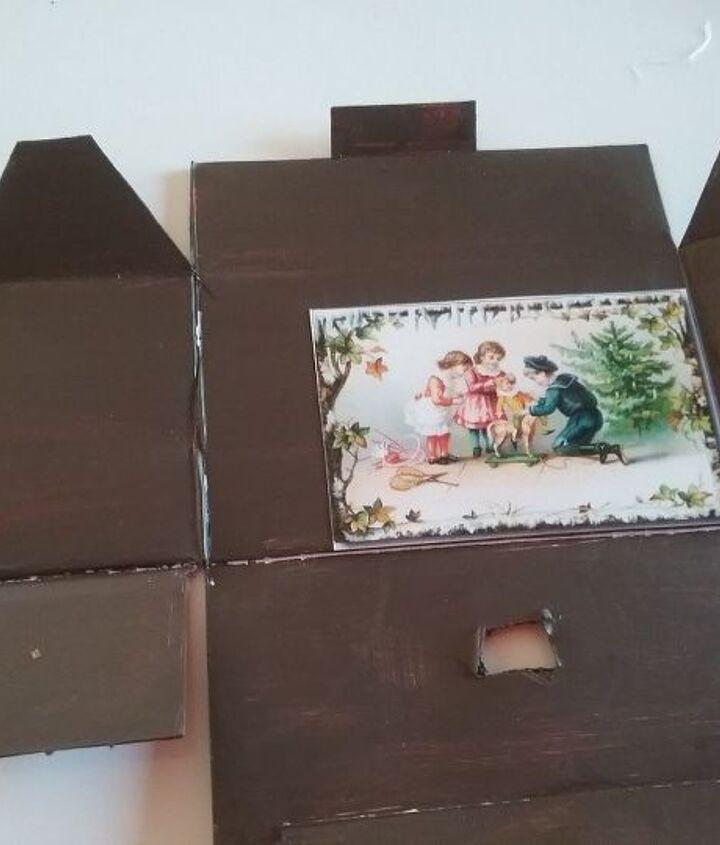 miniature log cabin christmas ornament diy