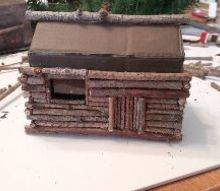 miniature log cabin christmas ornament diy