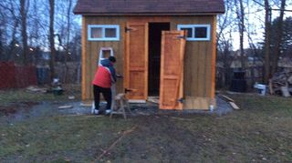 , Putting the doors on our shed