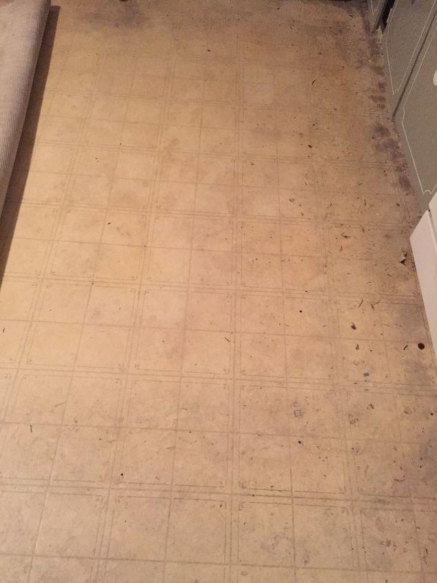 q kitchen floor is old vinyl can i paint it and it look half decent