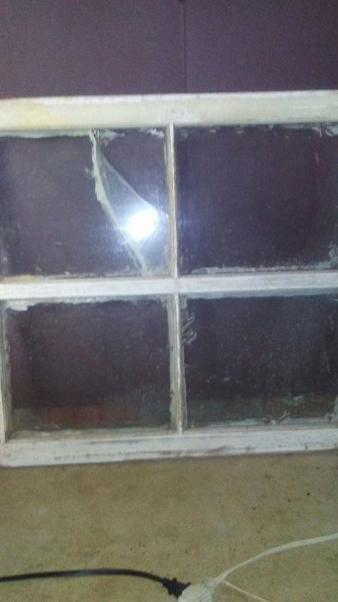 q ideas for old window frame