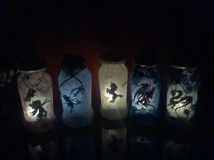 s top 20 diy crafts to do with kids, Mythical Creature Solar Lanterns