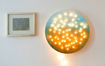 how to make lighted wall art