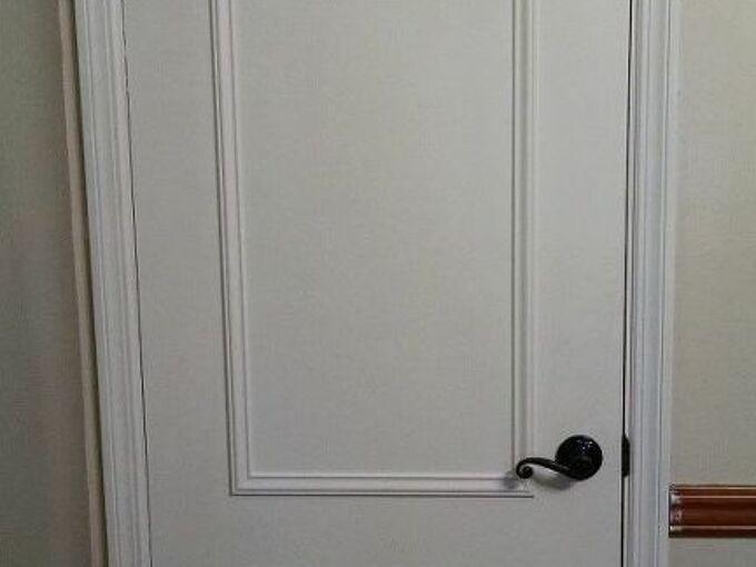 faux paneled door