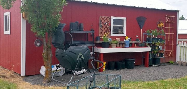 total makeover garden shed potting bench and a new home for my herbs