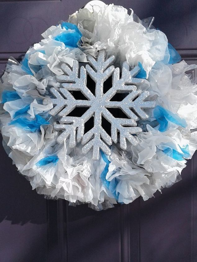s 20 wintery wreath ideas that you ll want to make for your home, Frugal DIY Winter Wreath