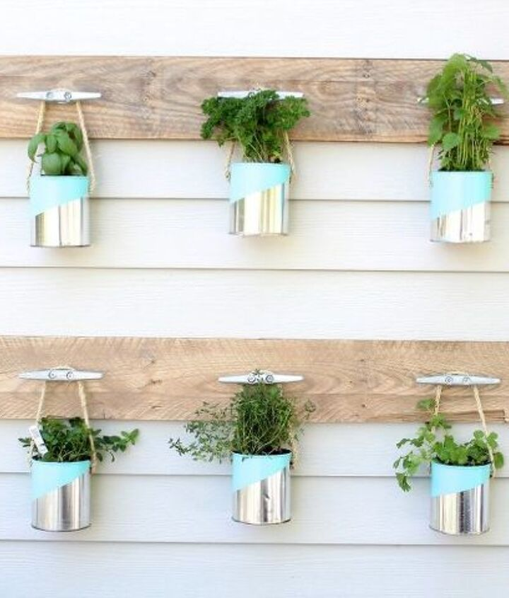 s these herb garden ideas will make you want to start one of your own, Paint Can Herb Garden