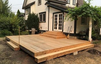 cedar deck remodel with new planter box benches, Installing New Decking