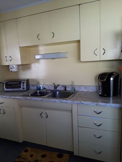 How Can I Change Up Old Metal Kitchen Cabinets Besides Painting Them Hometalk