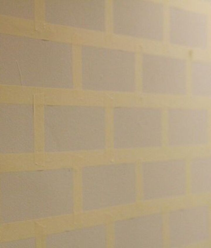 faux brick wall step by step tutorial for under 30