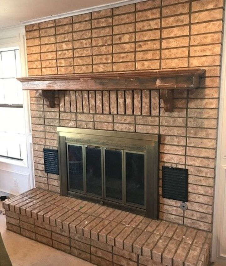 fireplace face lift from old to bold